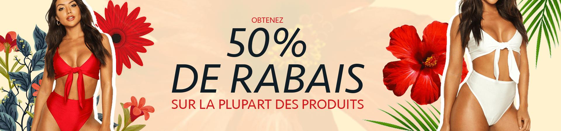 50% De Rabais Sur La Plupart Des Produits